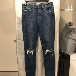 PAIGE jeans. Worn. Dark wash